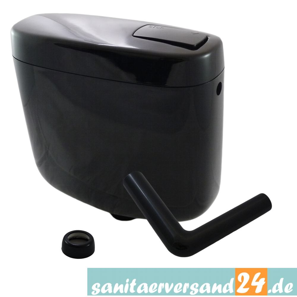 wc sp lkasten sanit 936 6 liter farbe schwarz ebay. Black Bedroom Furniture Sets. Home Design Ideas